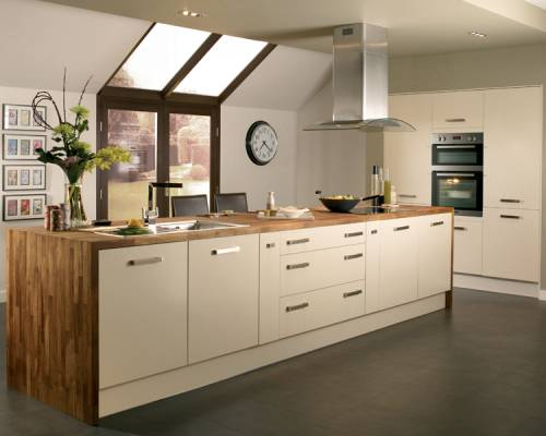 Properties with style contemporary kitchens for Cream kitchen base units